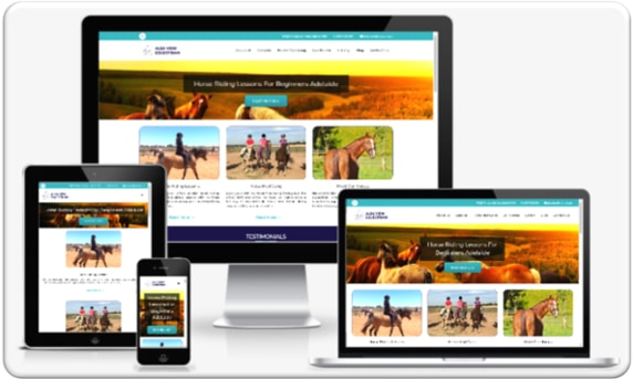Small Business Web Design Portfolio - Alba View Equestrian Mockup 1