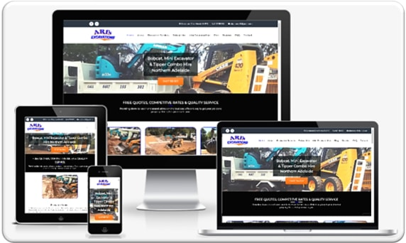 Small Business Web Design Portfolio - Ari's Excavations