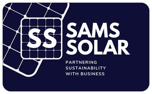 Small Business Website Portfolio - Sams Solar - Business Card Front